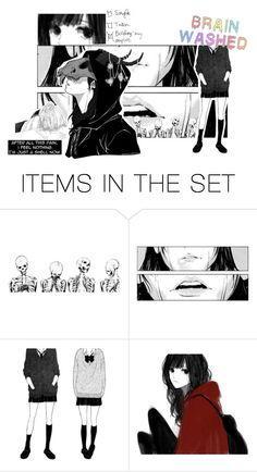 """""""Pretending You Can't See - Brain Washing"""" by silkyunicorn ❤ liked on Polyvore featuring art"""