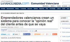 """Emprendedores valencianos crean un sistema para conocer la """"opinión real"""" del cliente antes de que se vaya  http://www.lavanguardia.com/local/valencia/20140824/54413972004/emprendedores-valencianos-crean-un-sistema-para-conocer-la-opinion-real-del-cliente-antes-de-que.html"""