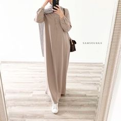 Casual Hijab Outfit, Casual Wear, Casual Outfits, Abaya Noir, Pull Kaki, Hijab Mode Inspiration, Hijab Style, Mode Hijab, Muslim Fashion