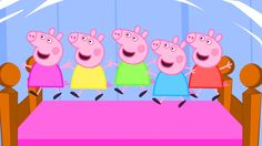 5 Little Peppa Jumping on the Bed / Nursery Rhymes Lyrics and More - YouTube