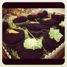 Peter Rabbit Birthday Party cupcakes
