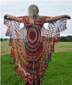 Boho Bohemian Vest-Stevie style shawl