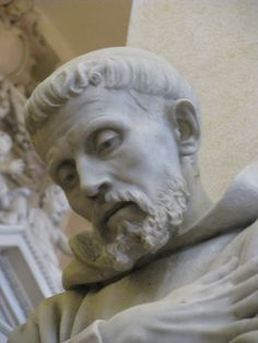 Sculpture of Francis of Assisi in Cathedral of San Rufino, Assisi