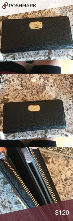 Michael Kors black leather wallet new with tags! Michael Kors black leather wallet new with tags! Michael Kors Bags Wallets