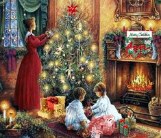 Merry Christmas To All, Christmas Scenes, Christmas Carol, All Things Christmas, Winter Christmas, Christmas Time, Wonderful Time, December, Christmas Decorations