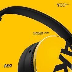 AKG Y50 / On-Ear Headphones on Behance