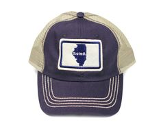 All 50 States Available  Home State Apparel Trucker Cap - Navy Blue 9007b7b89185