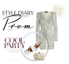 """""""Silver short dress slide"""" by puddycatshoes ❤ liked on Polyvore featuring Alexander McQueen and Jules Smith"""