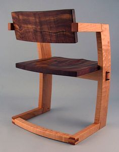 pJ. Rusten Furniture Studio - palo alto dining chair walnut back