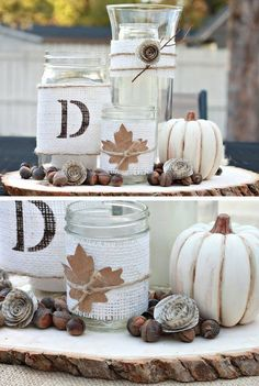 Rustic Fall Centerpiece Tutorial | 27 DIY Rustic Decor Ideas for the Home | DIY Rustic Home Decorating on a Budget