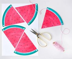 Wassermelonen-Girlande zum Ausdrucken - perfektes Accessoire für eine Melonen Mottoparty! #Freebie