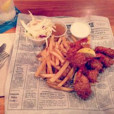 Bubba Gumps, Coconut Shrimp and fries! Awesome beach food!   @SwimSpot   #Surf'sUp