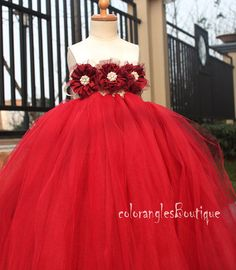 Burgundy tutu dress Flower Girl Tutu Dress by coloranglesBoutique