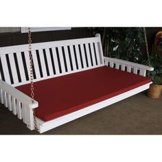 A & L Furniture Sundown Agora 6 ft. Swing Bed Cushion - 2 in. Thickness - 68W x 39D in., Red