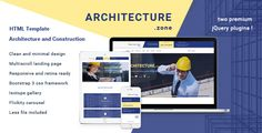 Architecture.Zone - Architecture and Construction HTML5 Template . If you are looking for minimal, responsive HTML5 website template for ARCHITECTURE and CONSTRUCTION websites, or INTERIOR DESIGN websites or any other CREATIVE BUSINESS STYLE website click to see  Architecture.zone HTML template