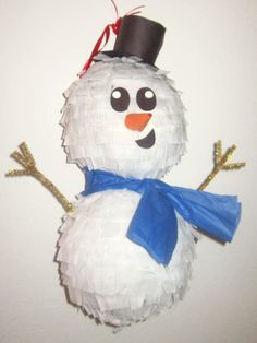 Custom Snowman Pinata Jolly Holiday Collection by PinataMama, $30.00