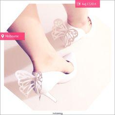 DIY heels by Sophia Webster  Butterfly heels S/S collection
