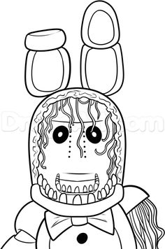 Five Nights at Freddy& Coloring Book New How to Draw withered Bonnie Step 11 Fnaf Coloring Pages, Monster Coloring Pages, Free Coloring, Adult Coloring, Coloring Books, Five Nights At Freddy's, Fnaf Drawings, Step By Step Drawing, Crafty Craft