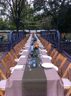 Belle Meade Plantation Event. Looks like a perfect edding reception, on the bridge over the creek!
