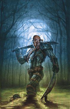 DEATHSTROKE #11 -  Written by TONY S. DANIEL and JAMES BONNY,  Art by TYLER KIRKHAM,  Monsters Variant cover by E.M. GIST