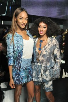 Jourdan Dunn and Solange Knowles