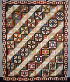QM Scrap Squad: Donna Hanna combined six different Bonnie Hunter Addicted to Scraps blocks to create this magnificent sampler quilt!