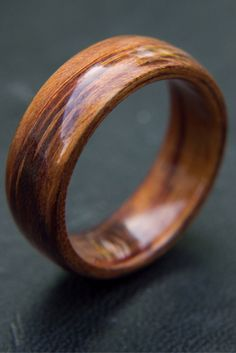 Mens bentwood wedding ring. This wooden wedding ring is handcrafted out of koa wood.