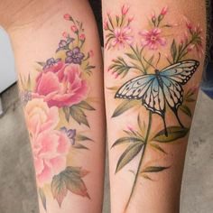 Butterflies and flowers by @lazerliz. I would like my current butterfly to be incorporated into the final piece.