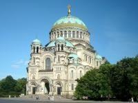 La Catedral Naval en Konstadt representa el apogeo de la arquitectura neo-bizantina rusa.