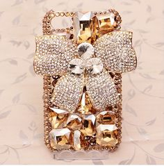 Bling bling crystal bow luxury  iphone 4 case by handmadeblingcase, $33.00