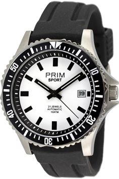 Hodinky PRIM Automatic W01C.10001.M  Sportovní mechanické hodinky s automatickým natahováním. Pouzdro je vyrobeno z ušlechtilé nerezové oceli 316L. Ocel je dále upravena kartáčováním a leštěním až do vysokého lesku, jež dodává hodinkám ten správný vzhled. Do pouzdra je vsazen automat kalibr 8215 s možností natáhnutí ocelovou korunkou. Pouzdro uzavírá dno hodinek na závit s průhledem z minerálního skla, které je rovněž vyrobeno z ušlechtilé nerezové oceli 316L. Tento model sportovních hodinek… Watches, Accessories, Clocks, Clock, Ornament