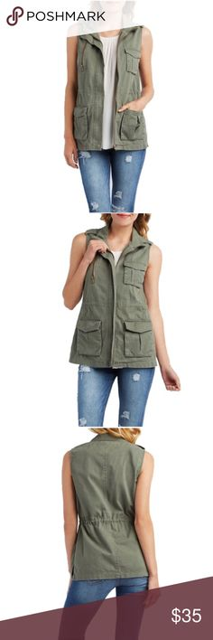 •Utility Vest• Make this vest your go-to top layer for a bit of extra warmth and a lot of extra style/breathable,comfortable Cotton is a joy to wear all year round/lightweight layer for transitional seasons/zipper closure/hidden drawstring waist/100% Cotton/machine wash/women average/new with thanks for looking                                            ❌No Trades❌ Fresh Jackets & Coats Utility Jackets