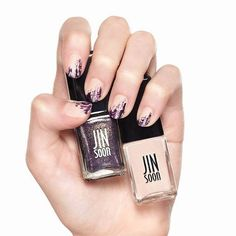 Check out this unique nail art from @saks using #JINsoon Farrago and Nostalgia.  #nails #nailart #nailpolish #tuesday