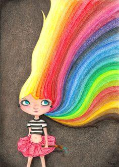 Colorfulia - ilustración, impresión, lápices de colores