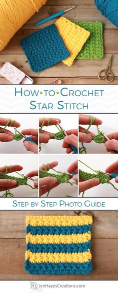 Star Stitch Picture Tutorial and Instructions by Jen Hayes Creations