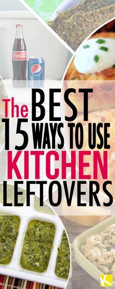 15 Ridiculously Amazing Ways to Use Kitchen Leftovers
