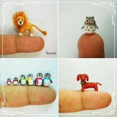 Miniature Crochet Animals and Birds