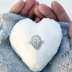 Valentine's Day Special 3 CT Pear-Cut Diamond Solitaire Ring White Gold Over , Unique Diamond Engagement Rings, Diamond Solitaire Rings, Solitaire Engagement, Pear Diamond, Round Cut Diamond, Valentine Day Special, Fine Jewelry, White Gold, Snow Falls