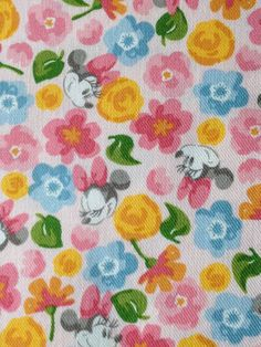 Half yard Disney fabric Minnie mouse printed by HanamiBoutique, $12.60