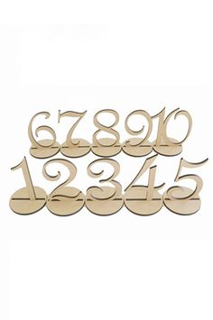 "PRA100 4"" Set Of 10 Table Numbers For Weddings And Other Events"