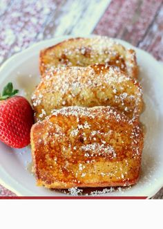 French Toast Style Pound Cake...looks quick and easy using Sara Lee pound cake....might have to try this real soon.