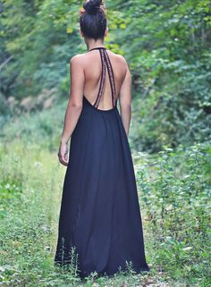 #ethnic #maxi #black #lace #clothes #pompom #black #girly #romantic #happy #enjoy #inspired #openback #flowers #vintage #petitboutik