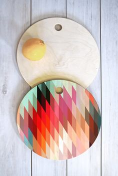 Three Of The Possessed Words Heavy 2 Cutting Board Round | DENY Designs Home Accessories