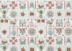 1940's Vintage Wallpaper Darling Kitchen Folk by HannahsTreasures, $14.00
