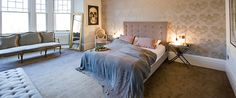 Heavenly bedroom pale colours luxe