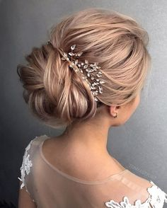 pretty hairstyle ideas | Bridal updo hairstyles | chignon wedding hairstyles | fabmood.com #weddinghair #harido updo hairstyle #promhair #besthairstyle #hairstyle #hairstyleideas #hairinspiration #weddinghairstyleideas #hairideas