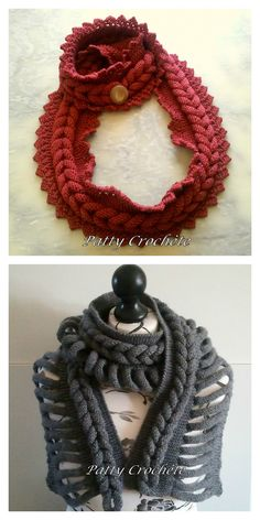DIY Knit Braided Scarf Technique from Patty Crochete. I translated from French to English using Chrome. Top Photo: Single Braid Scarf with B. # single Braids mom True Blue Me & You: DIYs for Creatives Dyi Crafts, Sewing Crafts, Single Braids, Braided Scarf, Diy Braids, Top Photo, Beautiful Crochet, Diy Clothes, Knit Crochet
