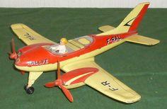 Vintage Joustra tin litho airplane.