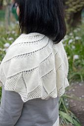 This scarf is knit from the top down starting with a long garter tab.