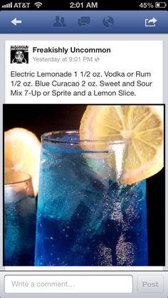 Electric Lemonade | Cobalt blue, yellow, orange wedding -- signature cocktail?